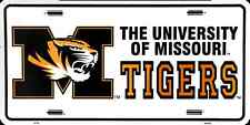 MISSOURI TIGERS CAR TRUCK TAG LICENSE PLATE METAL MAN CAVE SIGN UNIVERSITY OF