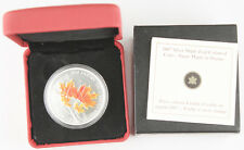 Canada 2007 Colored 1 Oz 9999 Silver Maple Leaf Coin +BOX & COA GEM BU