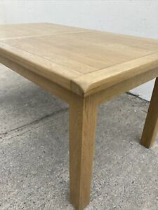 Chunky Solid Modern Oak Kitchen / Dining Table / Extending / Farmhouse Rustic
