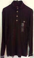 Club Room Men's Size Small Deep Black Lightweight Knit Table L/S Sweater $39 NWT