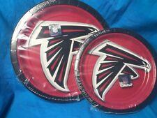 Atlanta Falcons Nfl pro football sports 18 ea dinner and dessert paper plates