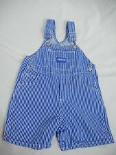 OshKosh BGosh Overall Shorts Vestbak Blue White Coverall 18M Months Conductor