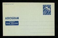 "Postal Stationery Norway H&G #FG4 Postal Aerogramme "" E.M.""  back 1949 Mint"