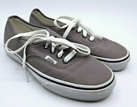 Vans Mens Authentic Solid Canvas Skateboard Shoes in Grey Size 5.5M/7W