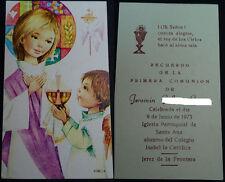 ESTAMPA PRIMERA COMUNION PARROQUIA SANTA ANA JEREZ 1973 HOLY CARD SANTINI CC1264