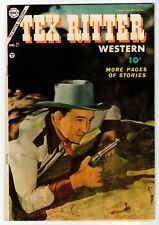 TEX RITTER WESTERN #21 - 1st CDC Issue - Charlton 1954 VG+ Vintage Comic