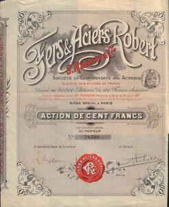 IRON / STEEL FRANCE : Fers & Aciers Robert G. Robert & Co Paris 1894