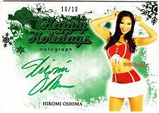 2013 BENCHWARMER HOLIDAY AUTO: HIROMI OSHIMA #10/10 AUTOGRAPH PLAYBOY PLAYMATE
