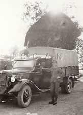 WWII German Small Rare RP- Gebirgsjager Elite Mountain Police Officer- Truck KFZ