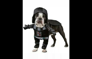 """Petco Star Wars Darth Vader""""Illusion""""Dog Costume Small w Sound Hat Cape Outfit S"""