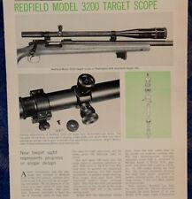 "Vintage ORIGINAL Article ""REDFIELD Model 3200 Target SCOPE""  3-p Magazine 1968"