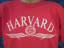 vintage 90s HARVARD UNIVERSITY CHAMPION T-Shirt L crimson cambridge ivy league