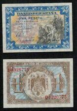 """ESPAÑA 1 peseta Junio 1940 """"Hernan Cortes"""" serie D. nº 4326775. SC. PLANCHA."""