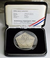 Pentagon odd shape 1.3 troy oz .999 silver bar w.Coa &Case, Very Rare,Great Gift