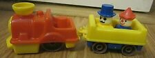 Plastic Train with People Figures Set of 4