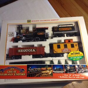 Timber Wolf & Redwood Great Railroad Empire Train Set  Of 1992 No. 189 Complete