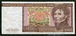 Sweden 1978, 1000 Kronor, P55a, VF