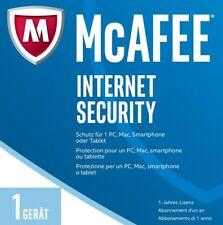 McAfee Internet Security 2017 / 2018 *1-PC/ 1-Jahr* (Win/Mac/Android) / KEY