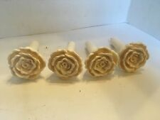 Vintage Resin Flower Curtain Tie Backs Set of 4 Made in Philippines