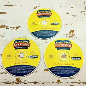 Reader Rabbit Early Reading Learning System PC Games & Audio CD