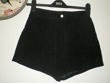 WOMENS BLACK SUEDE SHORTS/HOT PANTS SIZE 10