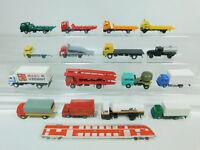 BN199-1# 16x H0/1:87 LKWs MB+Renault+MAN+Iveco etc (Eko, VEB/DDR, Herpa etc)
