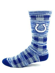 Indianapolis Colts Gray & Blue RMC Quilt Deuce Crew Socks
