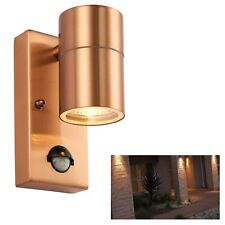 Copper Outdoor Security PIR Sensor Porch Outside Wall Doorway Garden Down Light