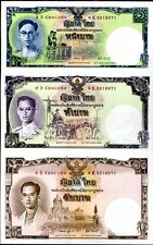 THAILAND 1 5 10 BAHT 80 YRS ND 2007 P 117 COMM. UNCUT AUNC