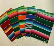 "1 Piece Sarape Runner Mexican Blanket, Saltillo 81"" x 14"" ,Assorted Colors"