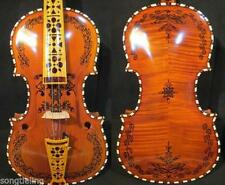 hand made solid woo Norwegian hardanger fiddle 4/4 violin 4*4  strings #10263