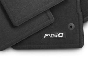 Genuine Ford 2015-2020 F-150 CREW CAB Carpet Floor Mats BLACK F150 Logo OEM
