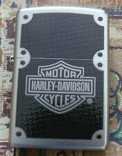AUTOMOTIVE HARLEY DAVIDSON CARBON FIBER ZIPPO LIGHTER FREE P&P FREE FLINTS