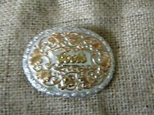 GIST Silversmiths belt buckle  Coors Beer Golden Colorado Silver Gold Tone