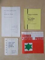 JOB LOT VINTAGE 1960's SHEFFIELD THEATRE PROGRAMMES - SHEFFIELD PLAYGOERS