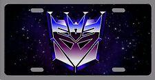 L@@K! Decepticon Transformers  License Plate Vanity Auto Tag