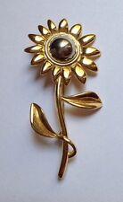 """Flower Brooch Pin (G645) 3"""" Silvertone & Goldtone"""