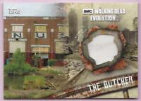 THE BUTCHER 2017 TOPPS WALKING DEAD  EVOLUTION COSTUME SWATCH #56/99