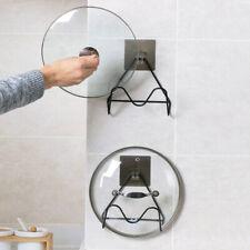 Pot Lid Racks Cutting Board Holder Kitchen Wall Hanging Hooks Stick Adhesive