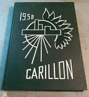 Vintage 1958 The Carillon Shenendehowa Elnora, NY Central High School Yearbook