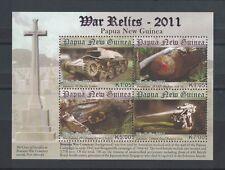 2011 Papua New Guinea War Relics MS SG 1536 Muh