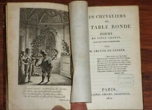 Creuzé de Lesser LES CHEVALIERS DE LA TABLE RONDE 1812 légende arthurienne EO