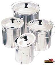 4 Piece Billy Set 1.4-3.5Lt Aluminium Camping Kettle Tea Pot Water Boiler Hiking