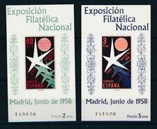 [24407] Spain 1958 good sheets (2) very fine MNH imperf