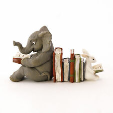 Elephant and Bunny Reading Together TO 4672 Miniature Fairy Garden
