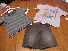 Baby boy's Calvin Klein jean shorts polo shirt  t shirt 3 pc set 18M 18 months