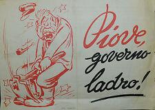 """Pubblicità WERBUNG - 1952 """" PIOVE, GOVERNO LADRO """""""