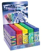 40 Titanium psychedelic electronic refillable lighters will ship 50 adjustable