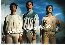 PUBLICITE ADVERTISING  1986   ADIDAS  joggings   vetements de sport ( 2 pages)2