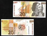 BANCONOTA SLOVENIA 20 Tolarjev DEL 1992 BANCONOTA SLOVENIA UNCIRCULATED FDS